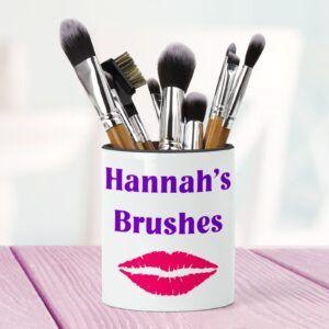 Personalised Make-up Brush Holder
