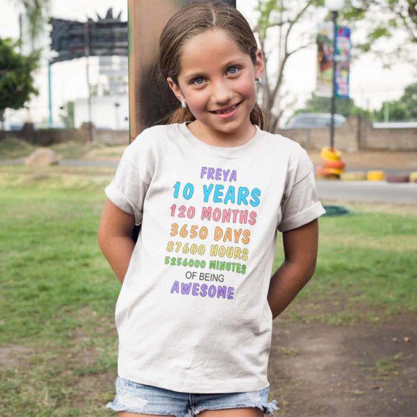 Personalised Birthday Age Tshirt