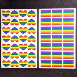 Rainbow Heart Stickers