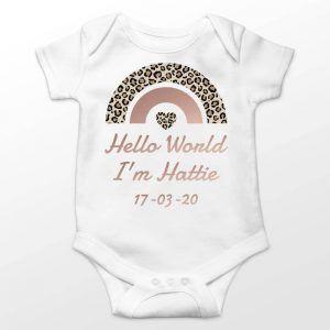Personalised Newborn Babygrow