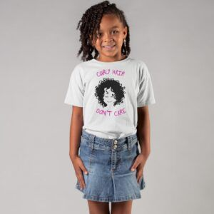 Curly Hair - Don't Care Tshirt