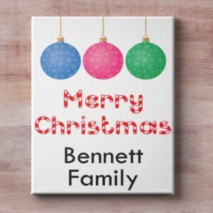 Personalised Christmas Canvas
