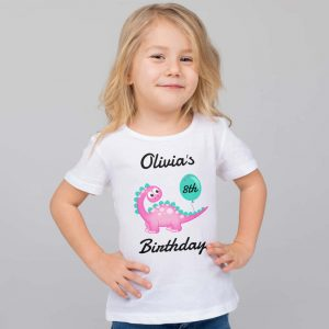 Personalised Dinosaur Age Tshirt