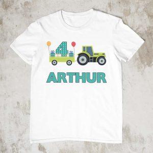 Personalised Tractor Tshirt